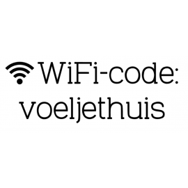 Sticker WiFi-code
