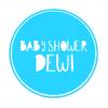 Babyshower sticker rond stoer