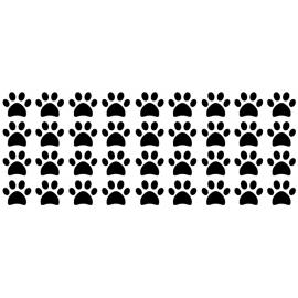 Stickerset hondenpootjes klein