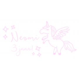 Raamsticker verjaardag unicorn