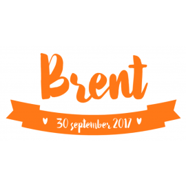 Geboortesticker Brent