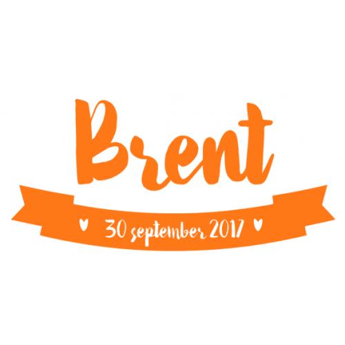 Geboortesticker Brent