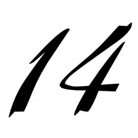 Huisnummer sierlijk