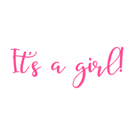 Gender reveal sticker girl