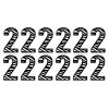 Verjaardagssticker zebracijfer