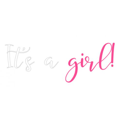 Gender reveal sticker girl