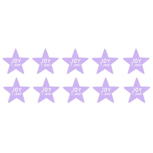 Naamstickerset sterren