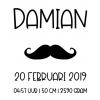 Sticker voor fotolijst Damian