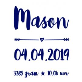 Sticker voor fotolijst Mason
