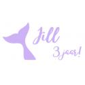 Verjaardagssticker zeemeermin