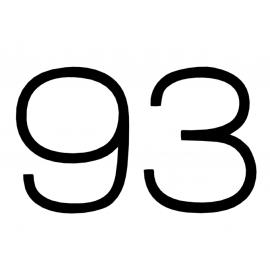 Huisnummer modern