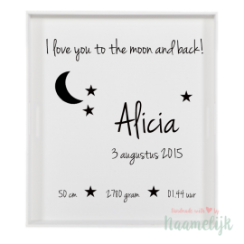 Stickerset 'I love you to the moon'