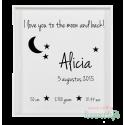 Stickers geboortebord 'I love you'